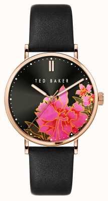 Ted Baker PHYLIPA Lemongrass Black Floral Dial Women's Watch BKPPHF005