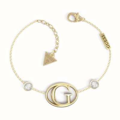 Guess G Logo Crystal Gold Tone Bracelet UBB01047YGL