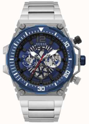 Guess EXPOSURE Men's Blue Dial Stainless Steel Watch GW0324G1