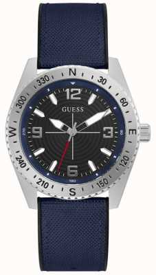 Guess NORTH Men's Black Dial Rubber Strap Watch GW0328G1