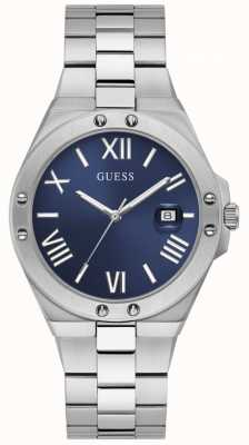 Guess Men's PERSPECTIVE Blue Dial Stainless Steel Watch GW0276G1