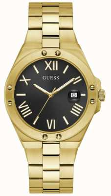 Guess Men's PERSPECTIVE Black and Gold Watch GW0276G2