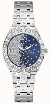 Guess AFTERGLOW Women's Blue Crystal Set Dial Stainless Steel Watch GW0312L1