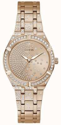 Guess AFTERGLOW Women's Rose Gold Crystal Set Dial Rose Gold Bracelet GW0312L3