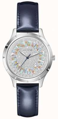 Guess GLAMOUR Women's Blue Leather Strap Watch GW0299L1