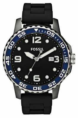 Fossil Mens Ceramic Black Strap Watch CE5004