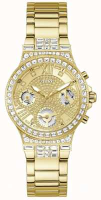 Guess MOONLIGHT Women's Crystal Set Gold Stainless Steel Bracelet GW0320L2