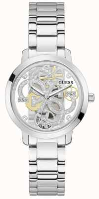 Guess QUATTRO CLEAR Women's Transparent Dial Stainless Steel Watch GW0300L1
