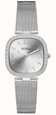 Guess TAPESTRY Women's Silver Square Dial Stainless Steel Watch GW0354L1