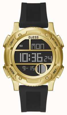 Guess Men's Zip Black and Gold Watch GW0272G2
