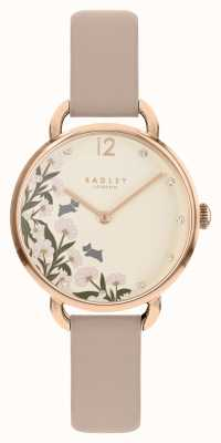 Radley Women's Pink Leather Strap Cream and Floral Dial RY21272