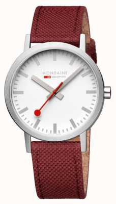 Mondaine Women's Red Textile Strap Watch A660.30360.17SBC