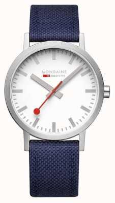 Mondaine Classic 40 mm Deep Ocean Blue Textile Strap A660.30360.17SBD1