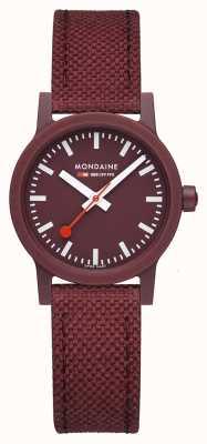 Mondaine Essence 32mm | Dark Cherry Strap | Burgundy Dial MS1.32130.LC