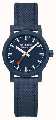 Mondaine Essence 32mm | Deep Ocean Strap | Blue Dial MS1.32140.LD