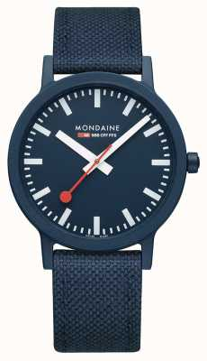 Mondaine Essence 41mm | Deep Ocean Blue Strap | Blue Dial MS1.41140.LD