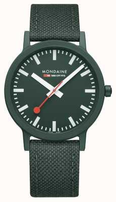Mondaine Essence 41mm | Park Green Strap | Green Dial MS1.41160.LF