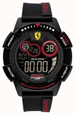 Scuderia Ferrari Apex Superfast Black Silicone Strap 0830856