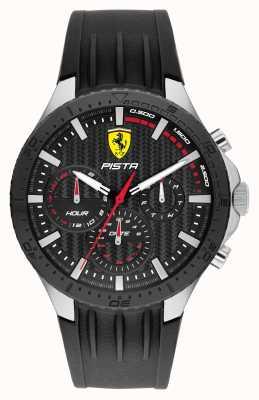 Scuderia Ferrari Pista Dual Track Black Silicone Strap 0830853