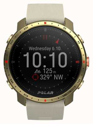 Polar Grit X Pro Arctic Gold Synthetic Rubber Strap 90085776