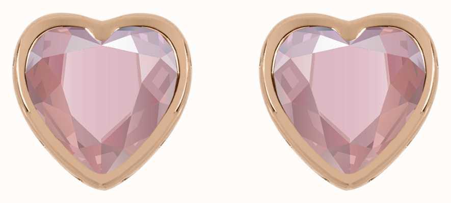 Radley Jewellery 18ct Rose Gold Plated Pink Heart Stud Earrings RYJ1206