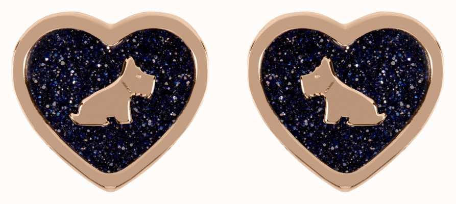 Radley Jewellery 18ct Rose Gold Plated Blue Stud Earrings RYJ1208