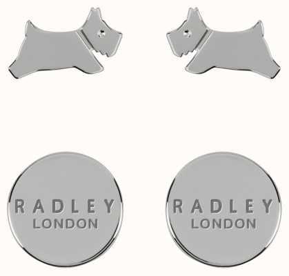 Radley Jewellery Fashion   Sterling Silver Circle & Dog Stud Earring Set RYJ1209S