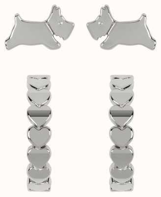 Radley Jewellery Fashion   Sterling Silver Scottie Dog & Hoop Earring Set RYJ1213S