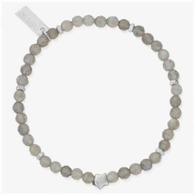 ChloBo Dark Skies Silver Labradorite Star Bracelet 18cm SBLSS