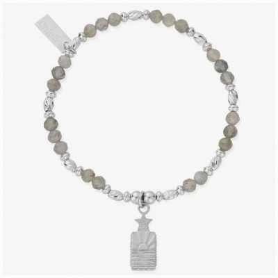 ChloBo Cosmic Ray Silver Labradorite Ray Charm Bracelet 18cm SBL3191
