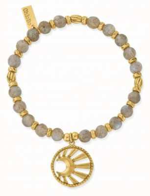 ChloBo Moonbeam Gold Plated Labradorite Bracelet 18cm GBL3173