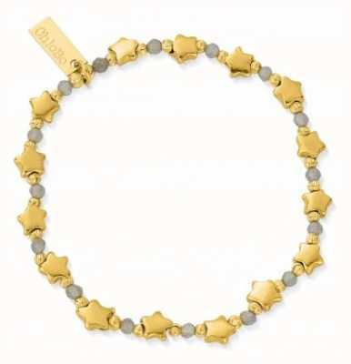 ChloBo Mystic Nights Gold Plated Star Labradorite Bracelet 18cm GBLMULSTAR