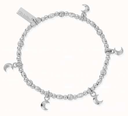 ChloBo Creative Dreams Silver Moon Charm Bracelet 18cm SBMUL3178