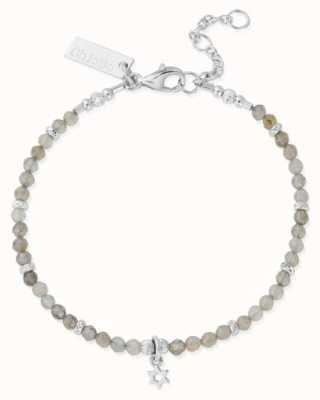 ChloBo Star Ruler Silver Labradorite Star Adjustable Bracelet SBLMC3058