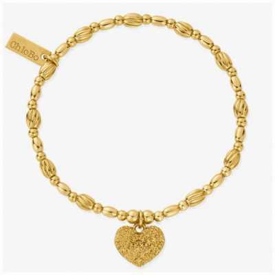 ChloBo Shining Heart Gold Tone Heart Bracelet GBTO3184