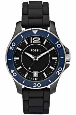 Fossil Womens Black Ceramic Strap Watch CE1036