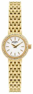 Rotary Womens Gold Plated Dress Watch LB02835/03