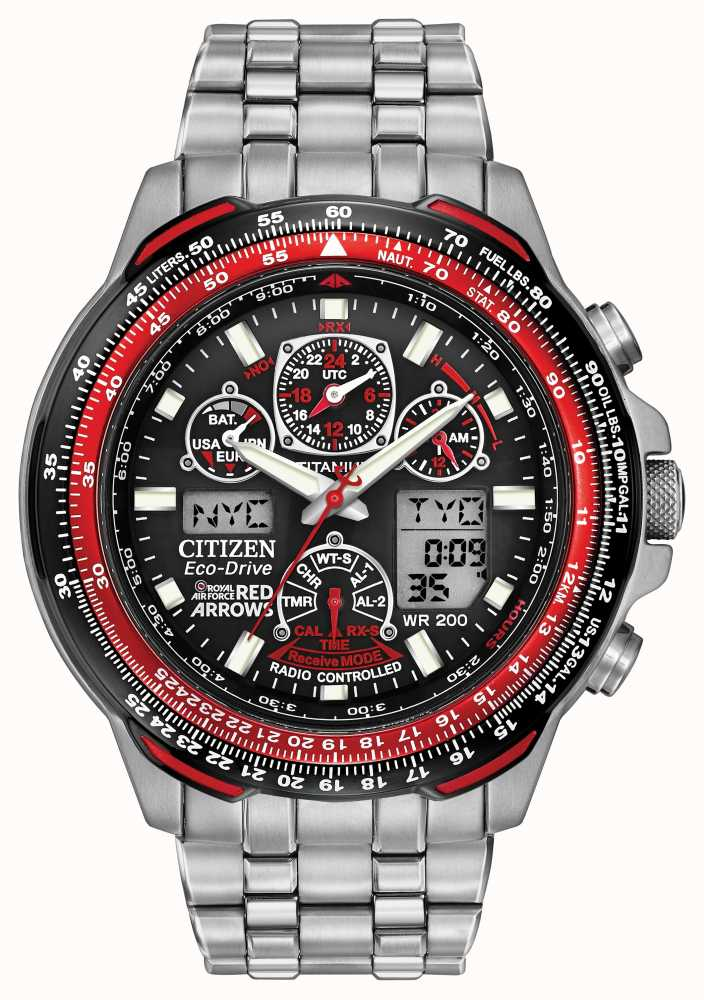 titanium watches ae eco men p model citizen atomic chronograph ecodrive flight drive skyhawk s watch mens v