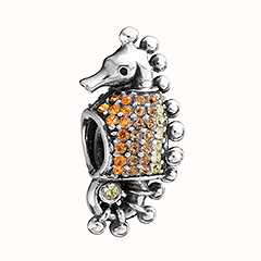 Chamilia Orange & Yellow Seahorse Charm JC-10