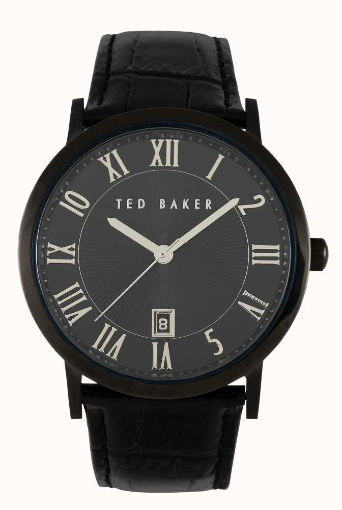419245e391d3e4 Ted Baker Mens Black Leather Strap Watch TE1043 - First Class Watches™