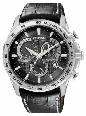 Citizen Radio Controlled Perpetual A-T Chronograph Leather AT4000-02E