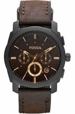 Fossil Mens Machine Chronograph Brown Watch FS4656