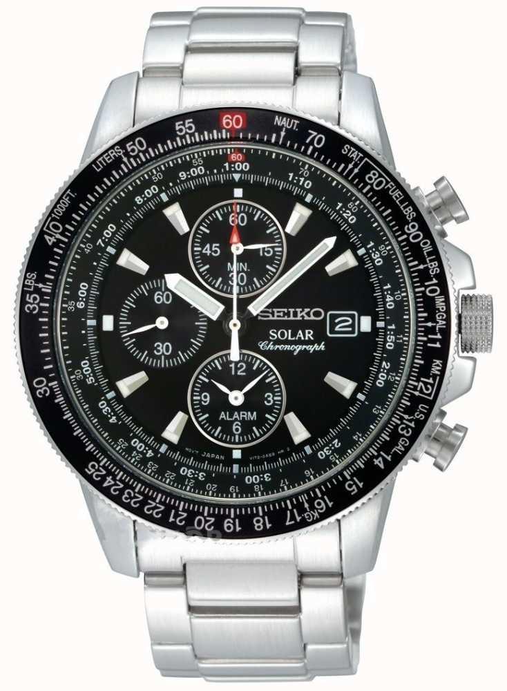 Seiko solar chronograph mens ssc009p1 first class watches for Seiko solar