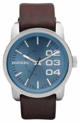 Diesel Mens Blue Dial Brown Leather Strap DZ1512