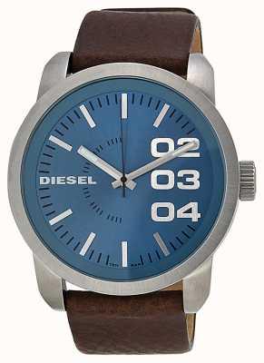Diesel Mens Blue Dial Brown Leather Strap DZ1512