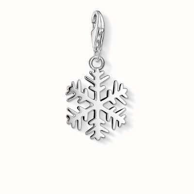 Thomas Sabo Snow Crystal Charm 925 Sterling Silver 0281-001-12