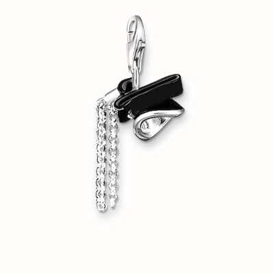 Thomas Sabo Womans Sterling Silver Black Doctoral Cap Charm 0463-007-11