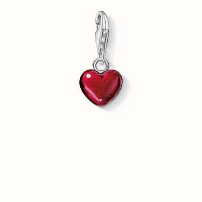 Thomas Sabo Heart Charm Red 925 Sterling Silver Cold Enamel 0794-007-10