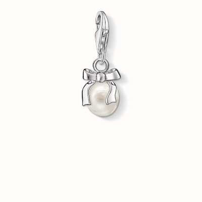 Thomas Sabo Bow Charm White 925 Sterling Silver/ Freshwater Pearl 0802-082-14