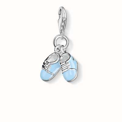 Thomas Sabo Bootee Charm Blue 925 Sterling Silver Cold Enamel 0822-007-1